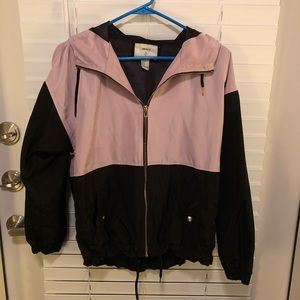 Forever 21 Lilac Rain Jacket size SMALL